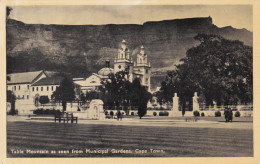 CAPE TOWN, South Africa, 1900-1910's; Table Mountain As Seen From Municipal Gardens - Afrique Du Sud