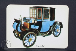 1972 Small/ Pocket Calendar - Old 1898 Peugeot - Tamaño Pequeño : 1971-80