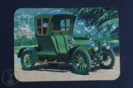 1979 Small/ Pocket Calendar - Old 1900´s Green Classic Car - Tamaño Pequeño : 1971-80