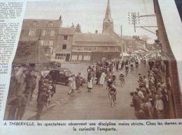 1939 TOUR DE FRANCE - EVREUX - BERNAY - THIBERVILLE - SERQUIGNY - �QUIPE DE BELGIQUE - SAINT JAMES