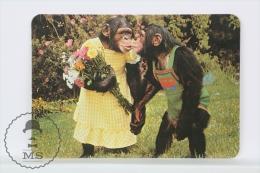1995 Small/ Pocket Calendar - Sweet Monkey Couple - Calendarios
