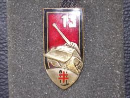"Insignes Militaire ""13e RG TREVES"" Military Badges ""ENGINEER REGIMENT "" - RARE - Armée De Terre"