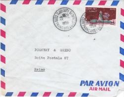 COL-L26 - COTE DES SOMALIS N° 282 Sur Lettre Par Poste Aérienne Pour Reims - Lettres & Documents