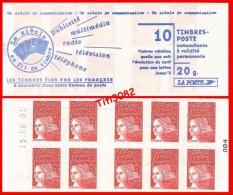 Marianne Du 14 Juillet - TVP Rouge - Daté - Y&T N° 3085a-C5 - NEUF** - Carnets