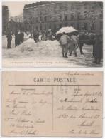 MAMERS - 115° Régiment D' Infanterie - La Corvée De Neige  - Cachet Militaire  (79458) - Mamers