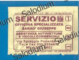 29294 Milazzo  Officina Meccanico - BUSTINA DI ZUCCHERO VUOTA - Sugar Empty - Sugars