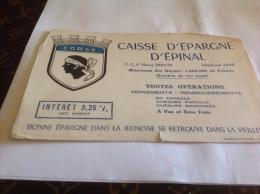 Buvard Corse Caisse D épargne Epinal Nancy - Autres