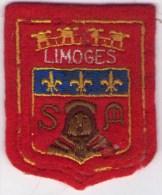 ÉCUSSON TRÈS ANCIEN EN TISSU BRODÉ LIMOGES (87) - Patches