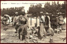 WW1 - GUERRE 1914 - TIRAILLEURS SENEGALAIS AU CAMPEMENT - 1915 PC - War 1914-18