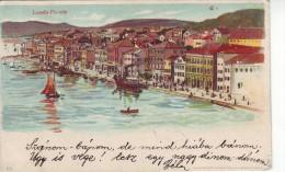 #4839 Croatia, Lussin-Piccolo Litho? Postcard Mailed 1899: Seashort, Animated - Croatie