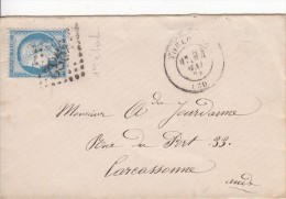 TOULOUSE  Vers CARCASSONNE - Marcophilie (Lettres)