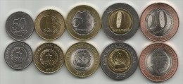 Angola 2012-2014. Complete Coin Set UNC - Angola
