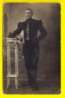CARTE PHOTO PORTRAIT MILITAIRE FOTOKAART MILITAIR SOLDAT ARMEE LEGER ARMY Uniforme Uniform Military Regiment Troupe 1852 - Uniformes