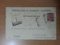 Modigliani & Tagiuri  - Livorno - Cartolina Commerciale - Livorno
