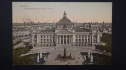 Germany - Berlin-Tiergarten - Reichstagsgebäude Mit Bismarck-Denkmal - 1905 - - Tiergarten