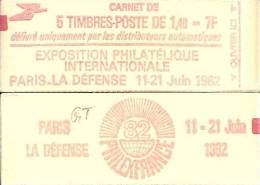 """CARNET 2102-C 2 Sabine """"PHILEXFRANCE 82"""" Fermé  Bas Prix Parfait état RARE - Carnets"""