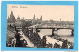 DRESDEN-CAROLABRUCKE-beau   Plan -avec Tramway-années 1900-10 - Dresden