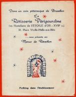 """Menus De Réveillon Restaurant """"La Rotisserie Périgourdine"""" Champagne Perrier-Jouet BRUXELLES BRUSSELS ° Menu - Menu"""
