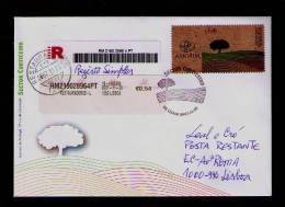 Cork Liège RARE Stamp-cover Pmk Fdc Lisboa LOGOTYPE (Corporate) Bandelette Publicitaire «The Cork Sector» Portugal #9481 - Variétés Et Curiosités