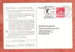 Karte, Brandenburger Tor Berlin, MS Gaggenau Dynamische Industriestadt, Nach Stuttgart 1972 (79438) - Covers & Documents