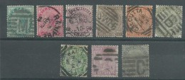 150022102  INDIA  GB  YVERT  Nº  33/43  (EXCEPT  37/42) - 1882-1901 Imperio