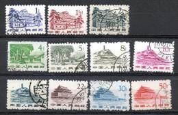 China Chine : (6080) R11(o) Issue Régulière Avec Des Conceptions Des Monuments Révolutionnaires (série Non Complète) - 1949 - ... People's Republic