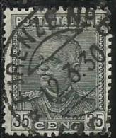 ITALIA REGNO ITALY KINGDOM 1929 TIPO DEL 1928 EFFIGIE RE VITTORIO EMANUELE II CENT. 35 EFFIGY KING USATO USED OBLITERE´ - Usati