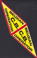ZELFKLEVER BELGIAN C.B. OPERATOR  / STICKER BELGIAN C.B. OPERATOR/ AUTOCOLLANT BELGIAN C.B. OPERATOR - Stickers