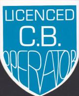 ZELFKLEVER C.B. OPERATOR / STICKER C.B. OPERATOR  / AUTOCOLLANT C.B OPERATOR - Vignettes Autocollantes