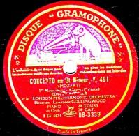 78 Trs 30 Cm état TB - LONDON PHILHARMONIC ORCHESTRA - CONCERTO En Ut MineurK. 491 (MOZART) 1re Et 2e Parties - 78 Rpm - Schellackplatten