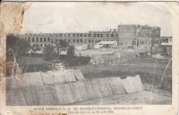 Cpa Ak Pk Braine Le Comte école Normale Notre Dame De Bonne Esperance état Des Travaux Le 26 Aout 1924 - Braine-le-Comte