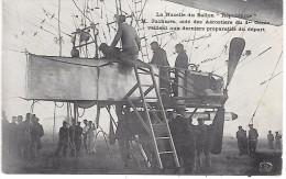 """La Nacelle Du BALLON 'REPUBLIQUE"""" - M Juchmés, Aidé Des Aérostiers Du 1er Génie Veillent Aux Derniers Préparatifs - Montgolfières"""