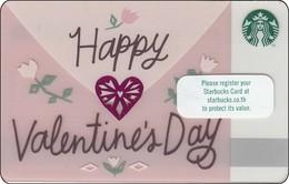Thailand Starbucks Card  Happy Valentine Day  2016-6133 - Gift Cards
