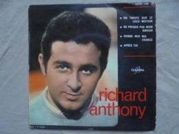 Ancien Disque Vinyle Super 45 T Richard ANTHONY 4 Titres Columbia - 45 T - Maxi-Single