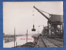 Photo ancienne - GENNEVILLIERS - Le Port - Transport de marchandises - TOP Clich� - P�niche Voie Ferr�e
