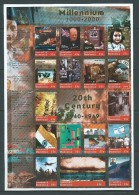 Dominica 1999 Millennium Sheet of 17 Famous events & people MNH