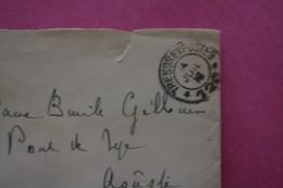 4-7-1916 GUERRE WW1 LETTRE FRANCHISE MILITAIRE MIGNONNETTE  CAD TRESOR ET POSTE SP 120 >PONT DE LYE AOUSTE DROME - Marcofilia (sobres)