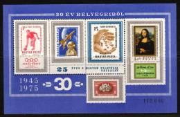 HUNGARY-1975.Commemorativ E Sheet - 25th Anniversary Of Hungarian Philatelic Company  MNH! - Ungarn