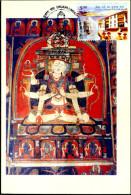 BUDDHISM-ALCHI MONASTRY-11th CENTURY AD-INDO HIMALAYAN PAINTING-PPC-IC-262-1 - Buddhism