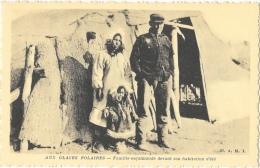 Aux Glaces Polaires - Famille Esquimaude Devant Son Habitation D´été - Edition OE.A.M.I. - Carte Non Circulée - Amérique