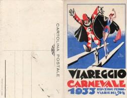 CP Double.  Programme. VIAREGGIO. Carnavale 1933.  Deux Scans. - Lucca