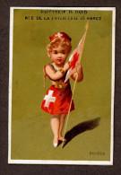 Nancy, Papeterie Dard, Jolie Chromo Dorée Lith. Testu & Massin, Pays, Drapeau, Suisse - Kaufmanns- Und Zigarettenbilder
