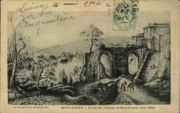 N�1213 MMM 65  SAINT JUNIEN RUINES DE L ABBAYE DE SAINT AMAND VERS 1825