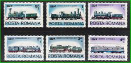 Romania 1979 International Traffic Exhibition Transport Trains Railway Locomotives Stamps MNH Michel 3674-3679 - 1948-.... Republics