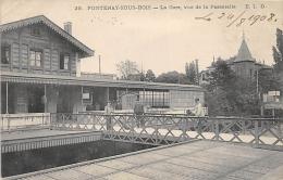 VAL DE MARNE  94  FONTENAY SOUS BOIS   LA GARE VUE DE LA PASSERELLE - Fontenay Sous Bois