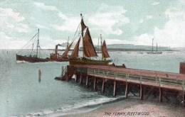 Postcard - Fleetwood Pier & Ferry, Lancashire. A - Otros