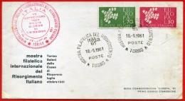 STORIA POSTALE - ITALIA '61 MOSTRA FILATELICA DEL RISORGIMENTO - ANNULLO POSTALE - 1961-70: Poststempel