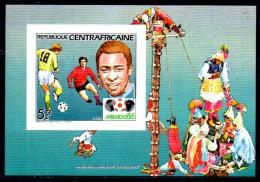 CENTRAFRIQUE    Bf De Luxe  702  * *  NON DENTELE   Cup 1986  Football Soccer Fussball - Coupe Du Monde