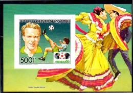 CENTRAFRIQUE    Bf De Luxe  Pa 331  * *  NON DENTELE   Cup 1986  Football Soccer Fussball - Coupe Du Monde
