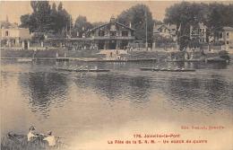 VAL DE MARNE  94  JOINVILLE LE PONT   LES FETES DE LA S.N.M.  UN MATCH DE QUATRE  SPORTS NAUTIQUES AVIRON - Joinville Le Pont
